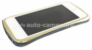 Алюминиевый бампер для iPhone 5 / 5S DRACO 5 Elegance, цвет gold / blue (DR50A6-GBU), цвет gold / blue (DR50A6-GBU)